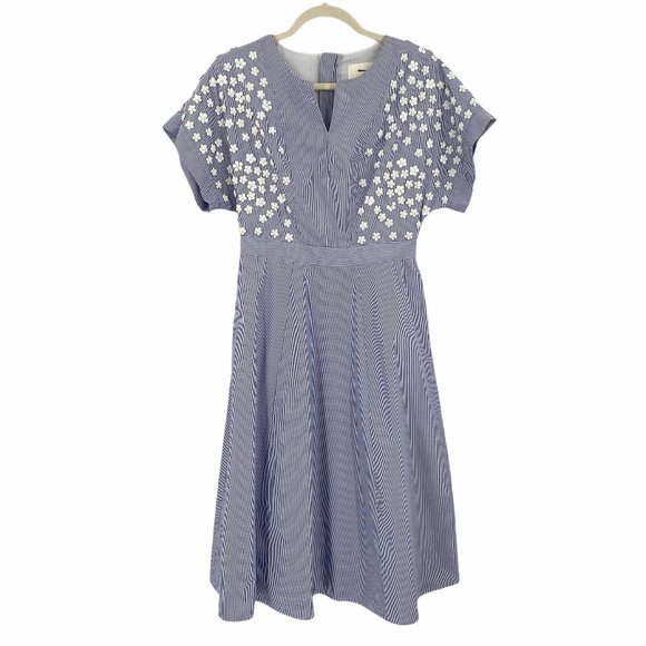 J. Crew Floral Sequin Short Sleeve Midi Dress